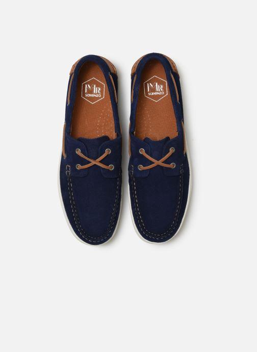 Scarpe con lacci Mr SARENZA Nobarca Azzurro modello indossato