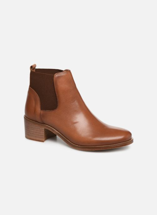 Ankle boots Georgia Rose Anatale Brown detailed view/ Pair view
