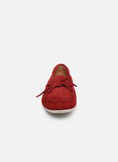 Mocassins Georgia Rose Auregane Rouge vue portées chaussures