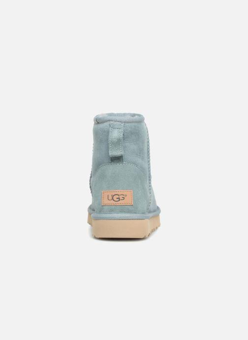 Bottines et boots UGG Classic Mini II Bleu vue droite