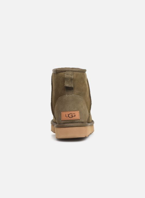 Ankle boots UGG Classic Mini II Green view from the right