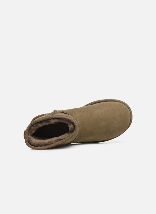 Bottines et boots UGG Classic Mini II Vert vue gauche