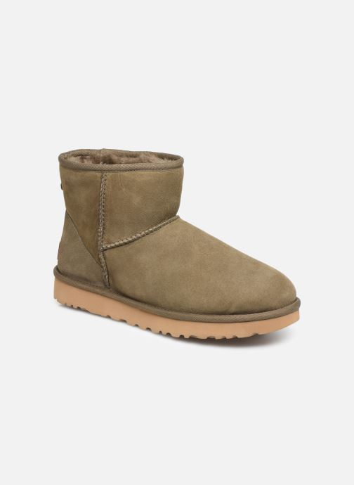 Ankle boots UGG Classic Mini II Green detailed view/ Pair view