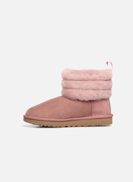Bottines et boots UGG Fluff Mini Quilted Rose vue face