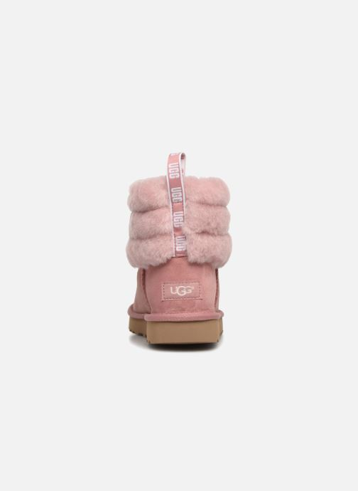 Bottines et boots UGG Fluff Mini Quilted Rose vue droite