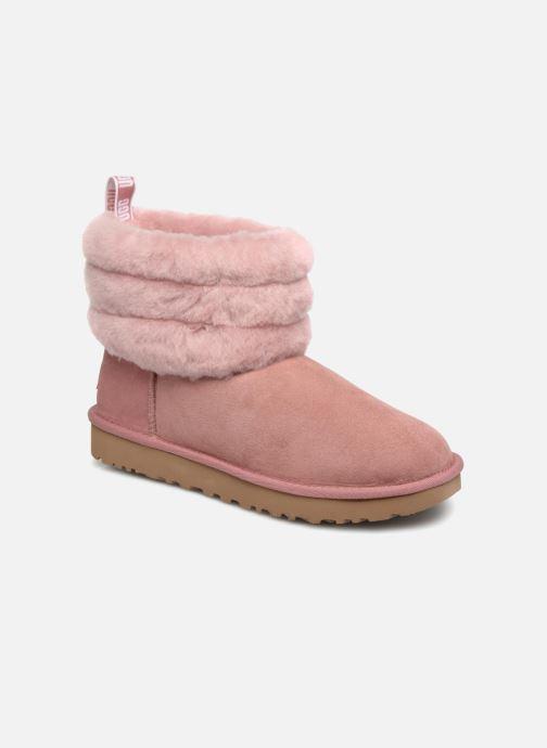 Bottines et boots UGG Fluff Mini Quilted Rose vue détail/paire