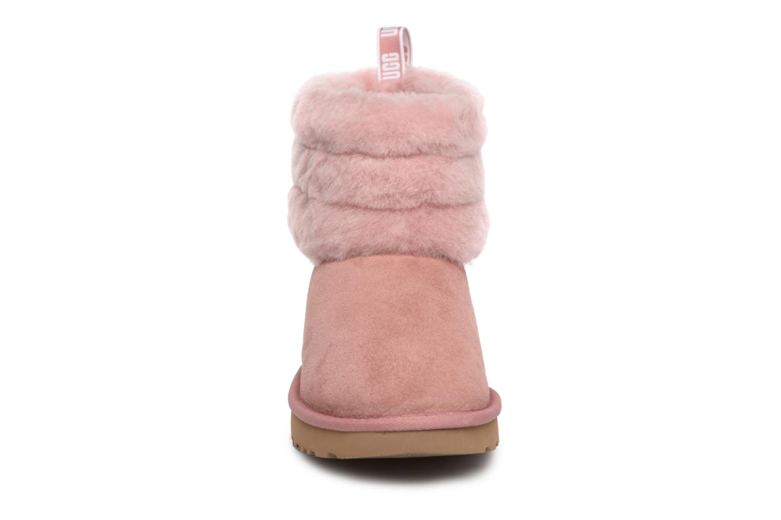 Bottines et boots UGG Fluff Mini Quilted Rose vue portées chaussures