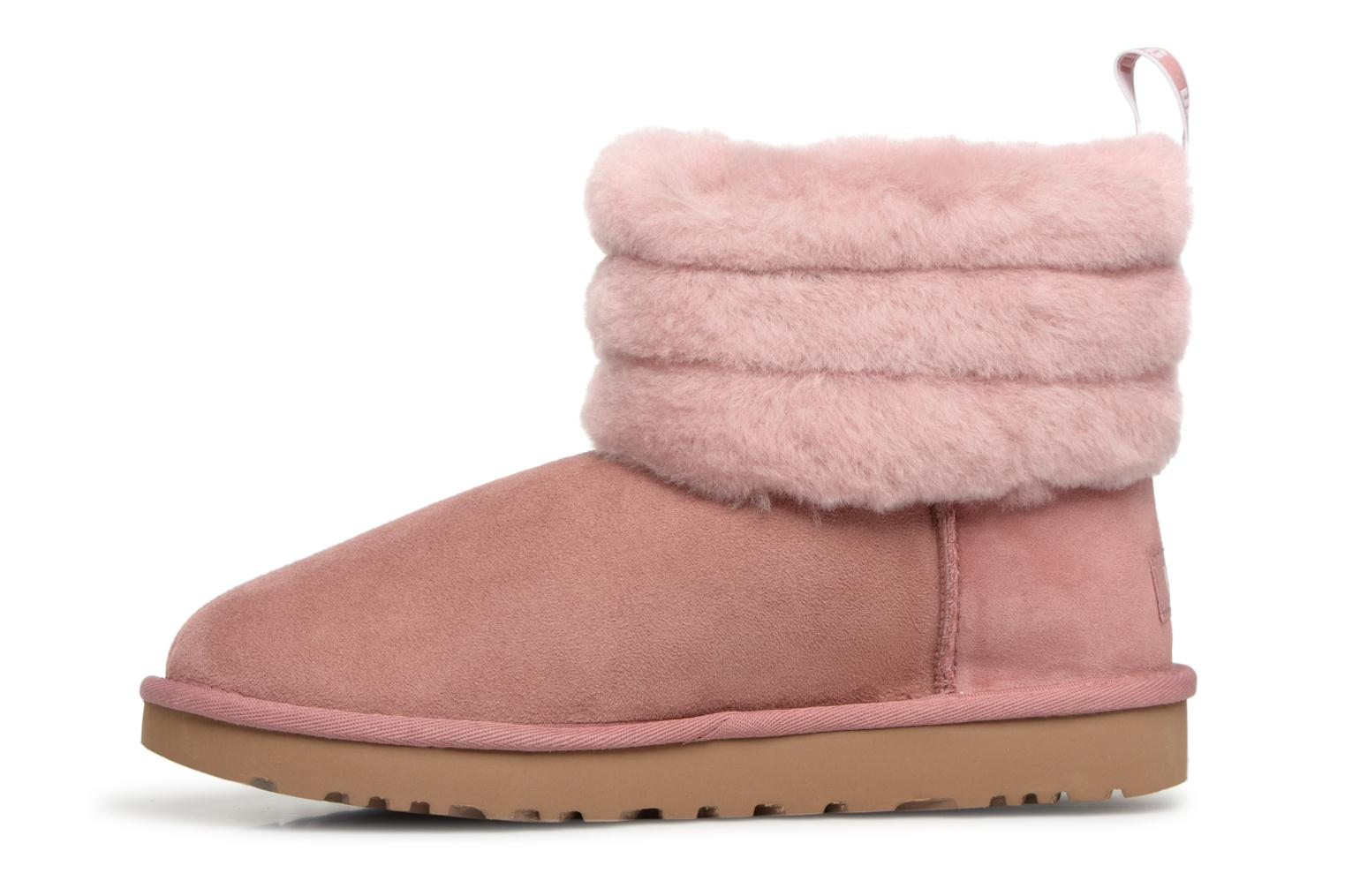 Bottines et boots UGG Fluff Mini Quilted Rose vue face