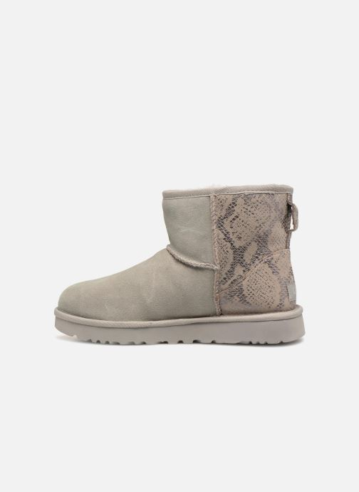 Bottines et boots UGG Classic Mini Metallic Snake Argent vue face
