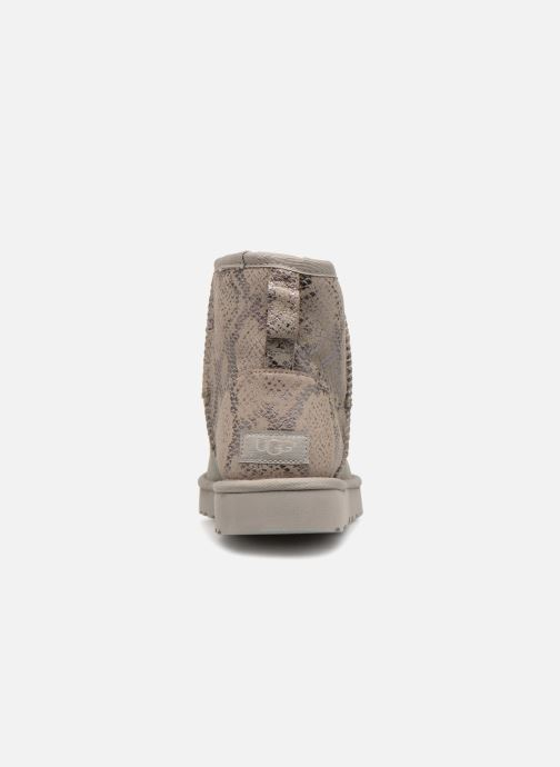Bottines et boots UGG Classic Mini Metallic Snake Argent vue droite