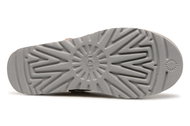 Bottines et boots UGG Classic Mini Metallic Snake Argent vue haut