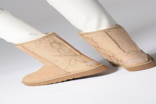 Støvler & gummistøvler UGG Classic Short Metallic Snake Guld og bronze se forneden