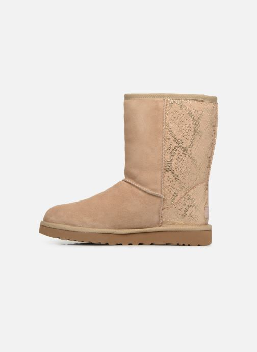 Bottes UGG Classic Short Metallic Snake Or et bronze vue face