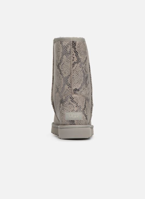 Bottes UGG Classic Short Metallic Snake Gris vue droite