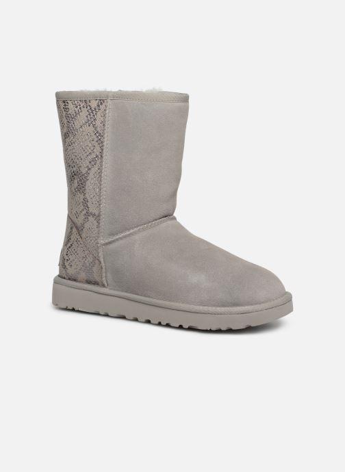 Støvler & gummistøvler UGG Classic Short Metallic Snake Grå detaljeret billede af skoene