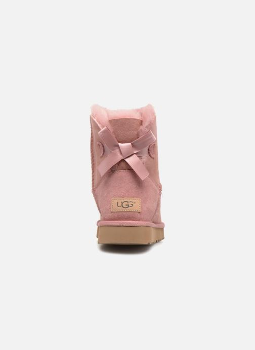 Botines  UGG Mini Bailey Bow II Rosa vista lateral derecha