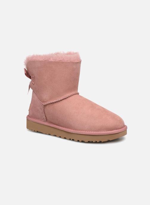 Bottines et boots UGG Mini Bailey Bow II Rose vue détail/paire