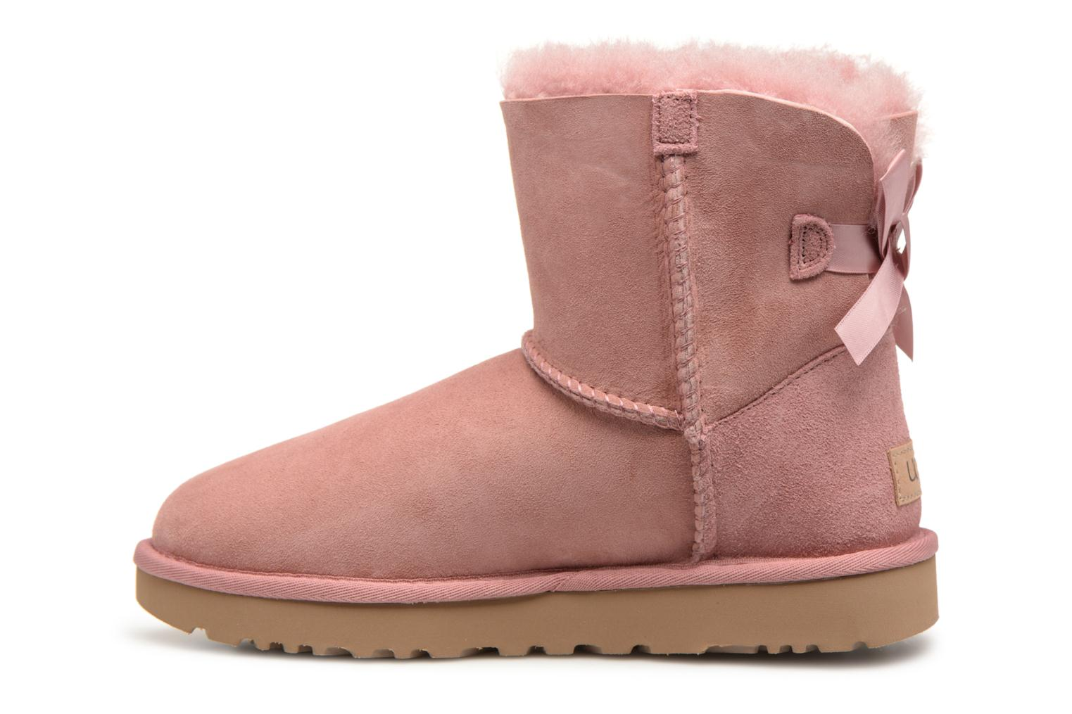 Bottines et boots UGG Mini Bailey Bow II Rose vue face