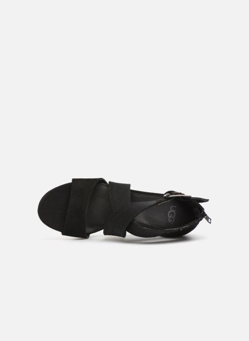 Sandales et nu-pieds UGG Calla Noir vue gauche