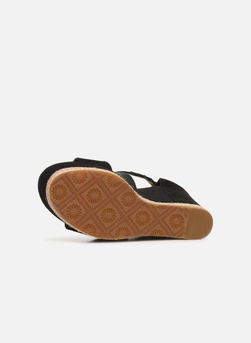 Sandales et nu-pieds UGG Calla Noir vue haut