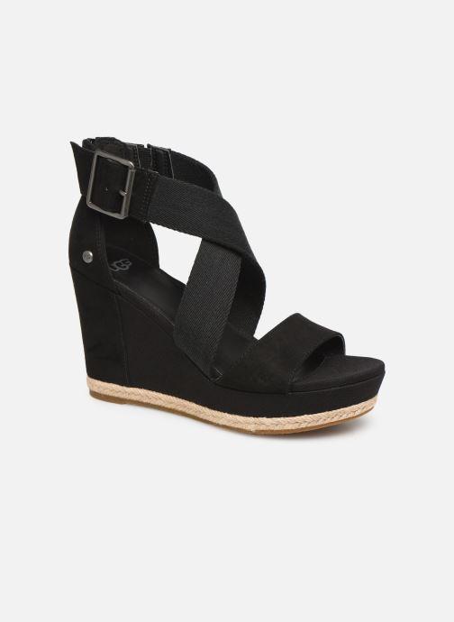 Sandales et nu-pieds UGG Calla Noir vue détail/paire