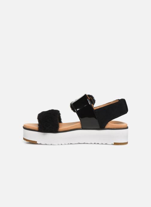 Sandales et nu-pieds UGG Le Fluff Noir vue face
