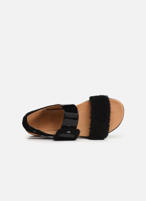 Sandales et nu-pieds UGG Le Fluff Noir vue gauche