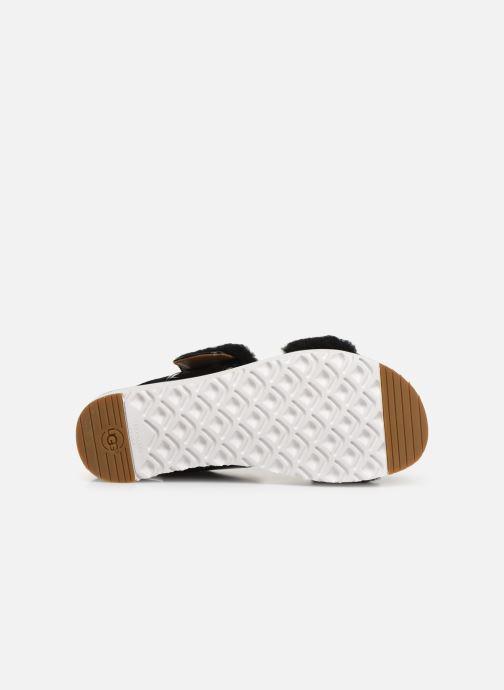 Sandales et nu-pieds UGG Le Fluff Noir vue haut