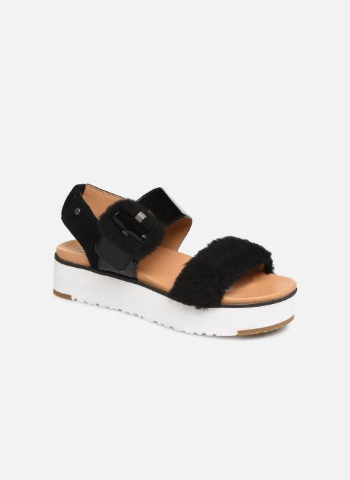 Sandales et nu-pieds UGG Le Fluff Noir vue détail/paire