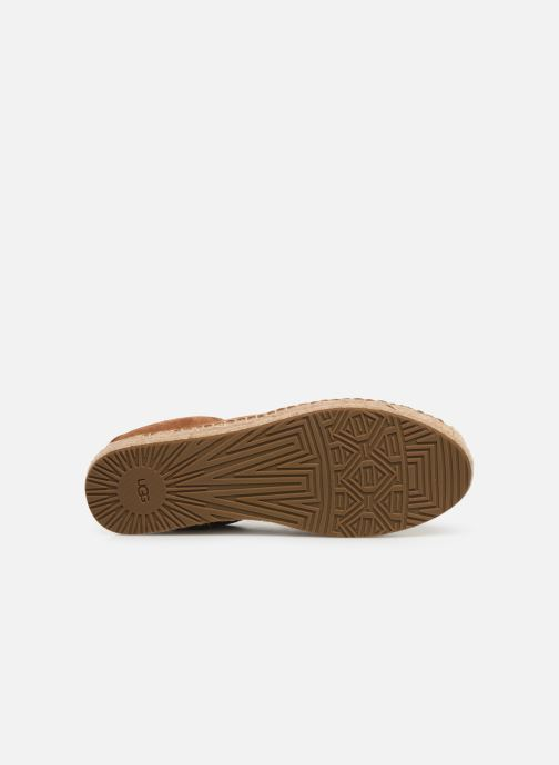 Baskets UGG Brianna Marron vue haut