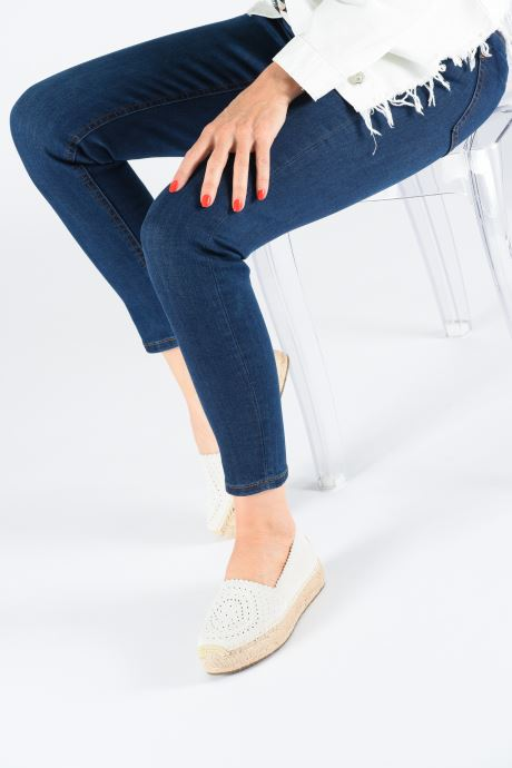 Espadrilles UGG Heidi Perf Blanc vue bas / vue portée sac