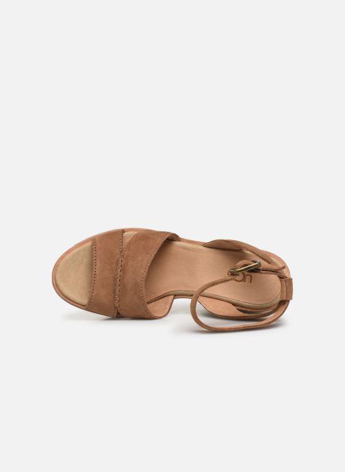 Sandalen UGG Carine braun ansicht von links