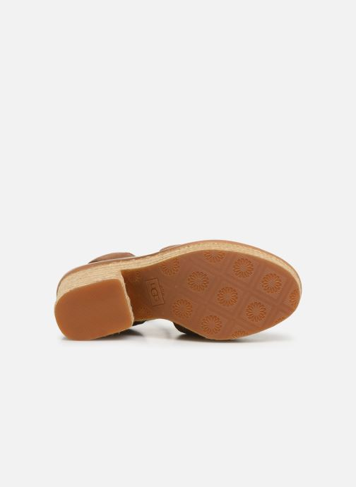 Sandalen UGG Carine braun ansicht von oben