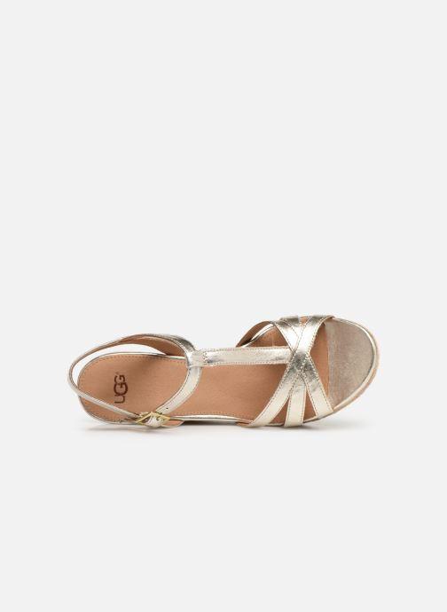Sandales et nu-pieds UGG Melissa Metallic Or et bronze vue gauche