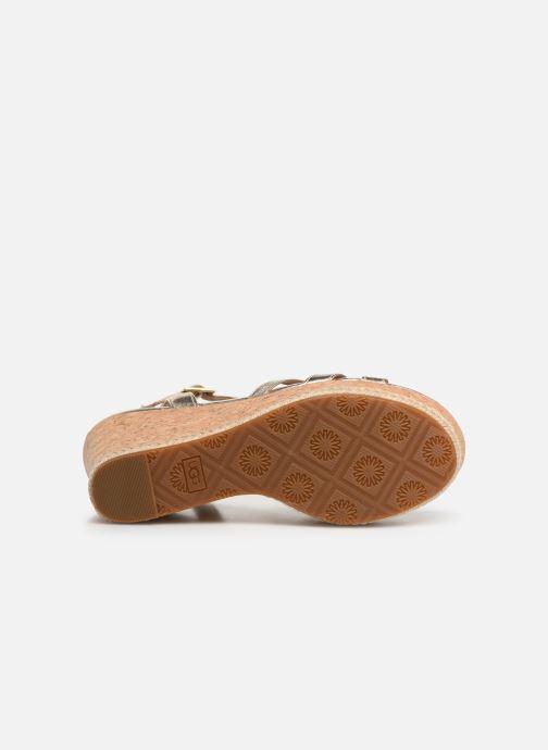 Sandales et nu-pieds UGG Melissa Metallic Or et bronze vue haut