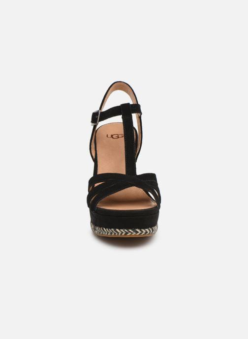 Sandalen UGG Melissa schwarz schuhe getragen