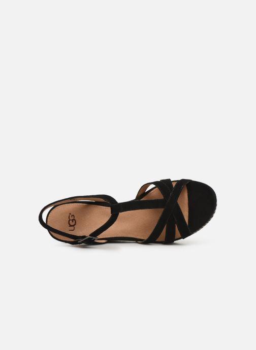 Sandales et nu-pieds UGG Melissa Noir vue gauche