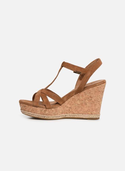 Sandales et nu-pieds UGG Melissa Marron vue face