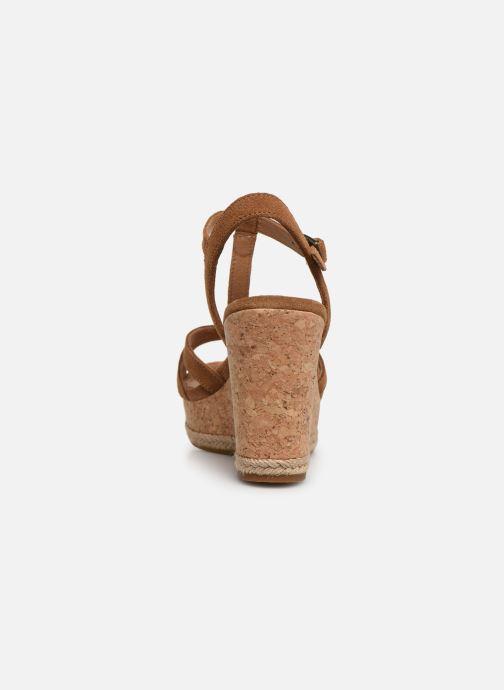 Sandales et nu-pieds UGG Melissa Marron vue droite