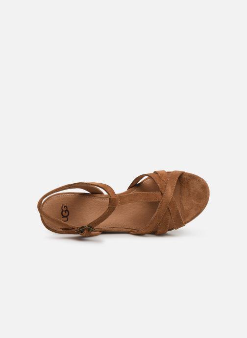 Sandales et nu-pieds UGG Melissa Marron vue gauche