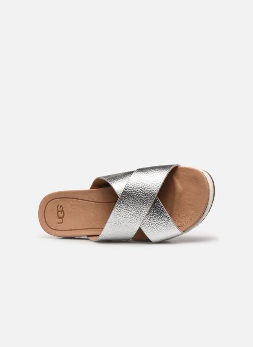 Clogs & Pantoletten UGG Kari Metallic silber ansicht von links