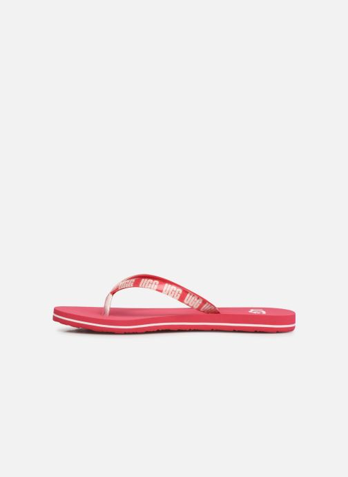 Tongs UGG Simi Graphic Rose vue face