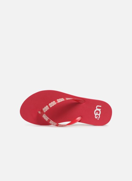 Tongs UGG Simi Graphic Rose vue gauche