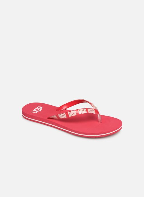 Tongs UGG Simi Graphic Rose vue détail/paire
