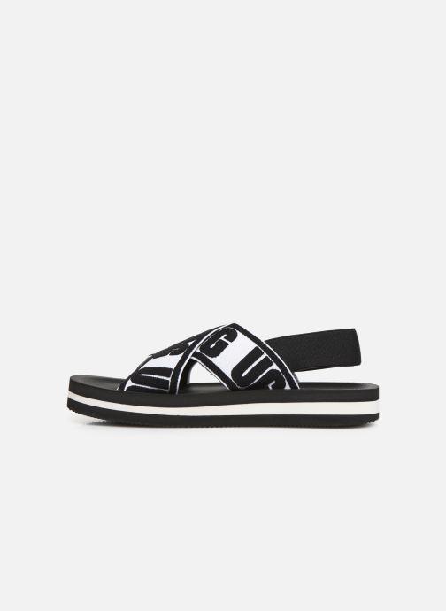 Sandales et nu-pieds UGG Marmont Graphic Noir vue face