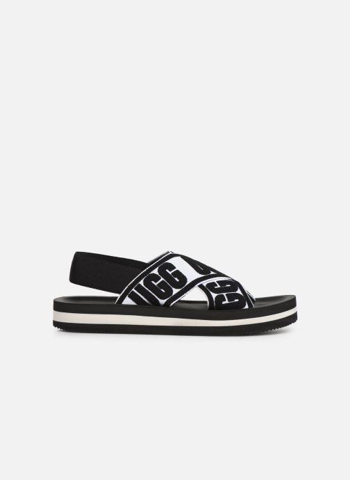 Sandales et nu-pieds UGG Marmont Graphic Noir vue derrière