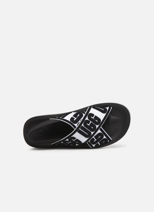 Sandales et nu-pieds UGG Marmont Graphic Noir vue gauche