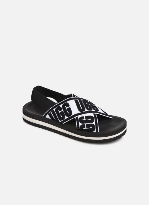 Sandales et nu-pieds UGG Marmont Graphic Noir vue détail/paire