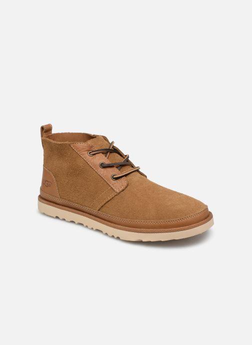 Bottines et boots UGG Neumel Unlined Leather Marron vue détail/paire