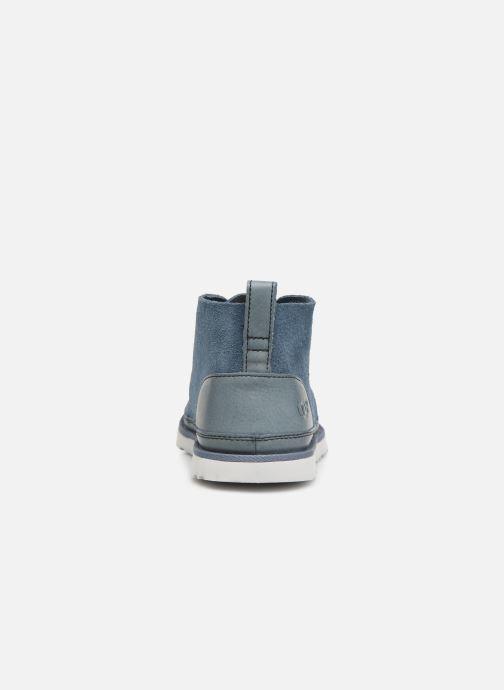 Botines  UGG Neumel Unlined Leather Azul vista lateral derecha